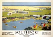 Southport, Merseyside. Vintage BR (LMR) Travel poster by Ellis Silas. 1950's